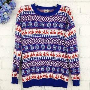 ASOS Fair Isle Reindeer Christmas Crewneck Sweater
